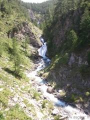 cascades sur la route du col de la Cayolle