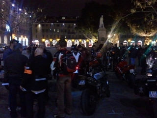 Rendez-vous motards place Garibaldi à Nice